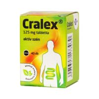 Cralex 125 mg tabletta (Carbo activatus EGIS)