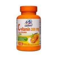 1x1 Vitamin C-vitamin 200 mg + D3-vitamin + Cink rágótabletta narancs ízben