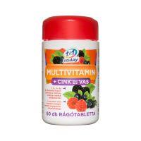 1x1 Vitaday Family Multivitamin + Cink és vas rágótabletta erdei gyümölcs