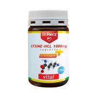 Dr.Herz Lysine-HCL 1000 mg C-vitamin tabletta (Pingvin Product)