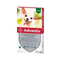 Advantix spot on 4 kg alatti kutyáknak A.U.V. (4x0,4ml)