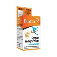 BioCo szerves magnézium +B6-vitamin tabletta (60x)