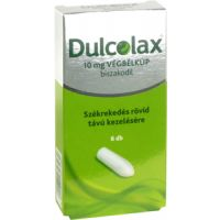 Dulcolax 10 mg végbélkúp