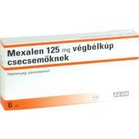 Mexalen  125 mg végbélkúp csecsemőknek