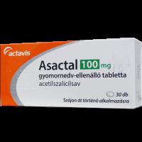 Asactal 100 mg gyomornedv-ellenálló tabletta (Pingvin Product)