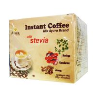 Ayura Herbal Instant Coffee mix steviaval tejporral