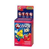Actival Kid Rágótabletta eper ízű cukormentes