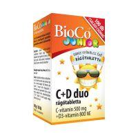 Bioco Duo C+D Junior erdeigyümölcs rágótabletta
