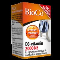 Bioco D3 vitamin 2000NE spec. tápszer tabletta Meg