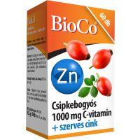 BioCo Csipkebogyó C-vitamin 1000 mg+cink tabletta