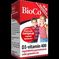 BioCo D3 vitamin  400 IU rágótabletta gyermeknek