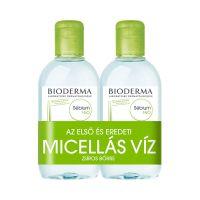 Bioderma Sébium H2O arc- és sminklemosó micellás víz DUO csomag
