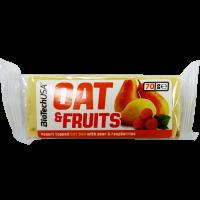 BioTechUsa Oat&Fruits Körte-Málna szelet - 70g