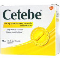 Cetebe 500 mg retard kemény kapszula 120