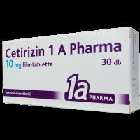 Cetirizin 1a Pharma 10 mg filmtabletta (Pingvin Product)