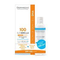 Dermedic Sunbrella speciális fényvédő SPF100+ + Dermedic Hydrain Micellás víz H2O
