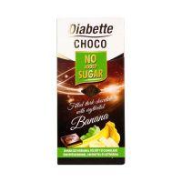 Diabette banánízű krémmel töltött étcsokoládé