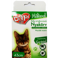 Dolly Bolha-Kullancs nyakörv Macska Fekete 43cm - 1x