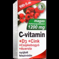 C-vitamin 1200 mg D3 Zn Csipkeb. tabl. DR.CHEN (Pingvin Product)