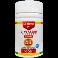 Dr.Herz D-vitamin 2000NE lágyzselatin kapszula