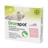 Dronspot 30mg/7,5mg rácsepeg.o.kistestű macska a.u (2x)