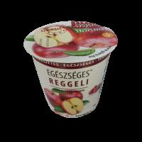 Egészséges reggeli poharas zabkása alma-vörösáfonya