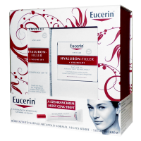 Eucerin Hyaluron-Filler+Volume csomag (arckrém normál bőrre+szemránckrém) (Pingvin Product)