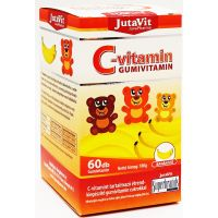 JutaVit C-vitamin 300 mg gumivitamin Banán (Pingvin Product)