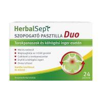 Dr.Theiss Herbalsept szopogató pasztilla Duo kamilla ízesítéssel és mézzel