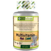 Herbioticum Kids multivit. rágótabletta málna (Pingvin Product)