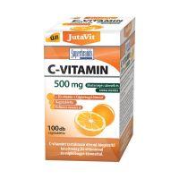 JutaVit C-vitamin 500 mg narancs ízű rágótabletta D3-vitaminnal és csipkebogyó kivonattal