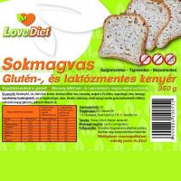 Love Diet sokmagvas glutén-és laktózmentes kenyér