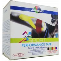 MASTER AID Sport tapasz 5cmx5m sárga (Pingvin Product)