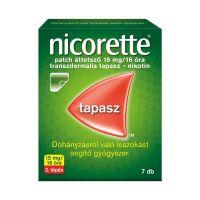 Nicorette patch áttetsző 15 mg 16 óra transz.tap
