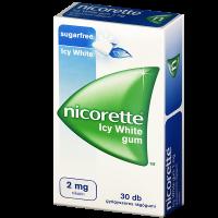 Nicorette Icy White 2mg gyógyszeres rágógumi
