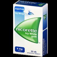 Nicorette Icy White 4mg gyógyszeres rágógumi