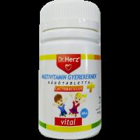Dr.Herz Multivitamin Lactobacillus rágótabletta gyermekek (Pingvin Product)