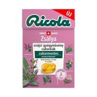 Ricola Zsályás svájci gyógynövény cukormentes cukorka
