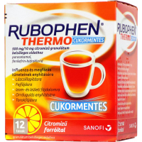 Rubophen Thermo cukormentes 500mg/10mg citromízű