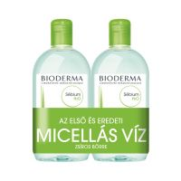 BIODERMA Sébium H2O arc- és sminklemosó zsíros bőrre (DUOpack, 2x500ml)