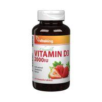 Vitaking D-vitamin 2000NE eper ízű  rágótabletta