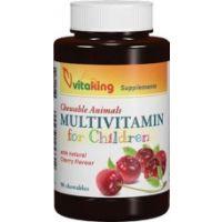 Vitaking Gyermek-vitamin rágótabletta meggy ízű