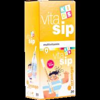 Vitasip Kids Multivitamin szívószál Narancs (Pingvin Product)