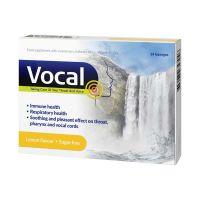 Vocal Étrend-kiegészítő édesítőszerrel, izlandi zuzmóval, C-vitaminnal és cinkkel, Citrom ízű