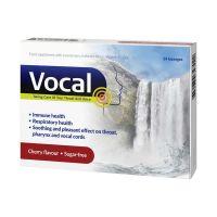 Vocal Étrend-kiegészítő édesítőszerrel, izlandi zuzmóval, C-vitaminnal és cinkkel, Cseresznye ízű