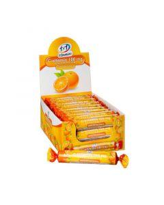1x1 Vitamin C-vitamin 100 mg szőlőcukor rágótabletta narancs ízben