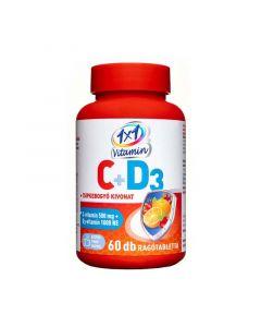 1x1 Vitamin C-vitamin + D3-vitamin rágótabletta csipkebogyó kivonattal