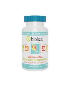 Bioheal Cukormentes multivitamin gyermekeknek egzotikus gyümölcs ízű rágótabletta (Pingvin Product)
