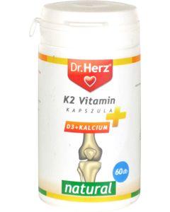 Dr.Herz K2 vitamin + D3 + Kalcium kapszula