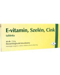 E vitamin Szelén Cink tabletta